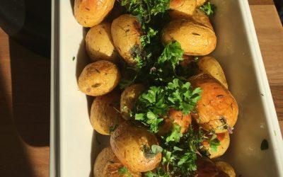 Ovnbagte kartofler